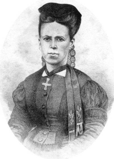 Poetisa e professora Luciana de Abreu.