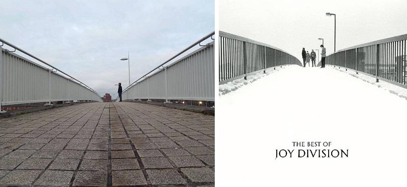 O autor visitou o local onde Kevin Cummings fez uma das fotos mais conhecidas e mais intrigantes de toda a carreira do Joy Division.